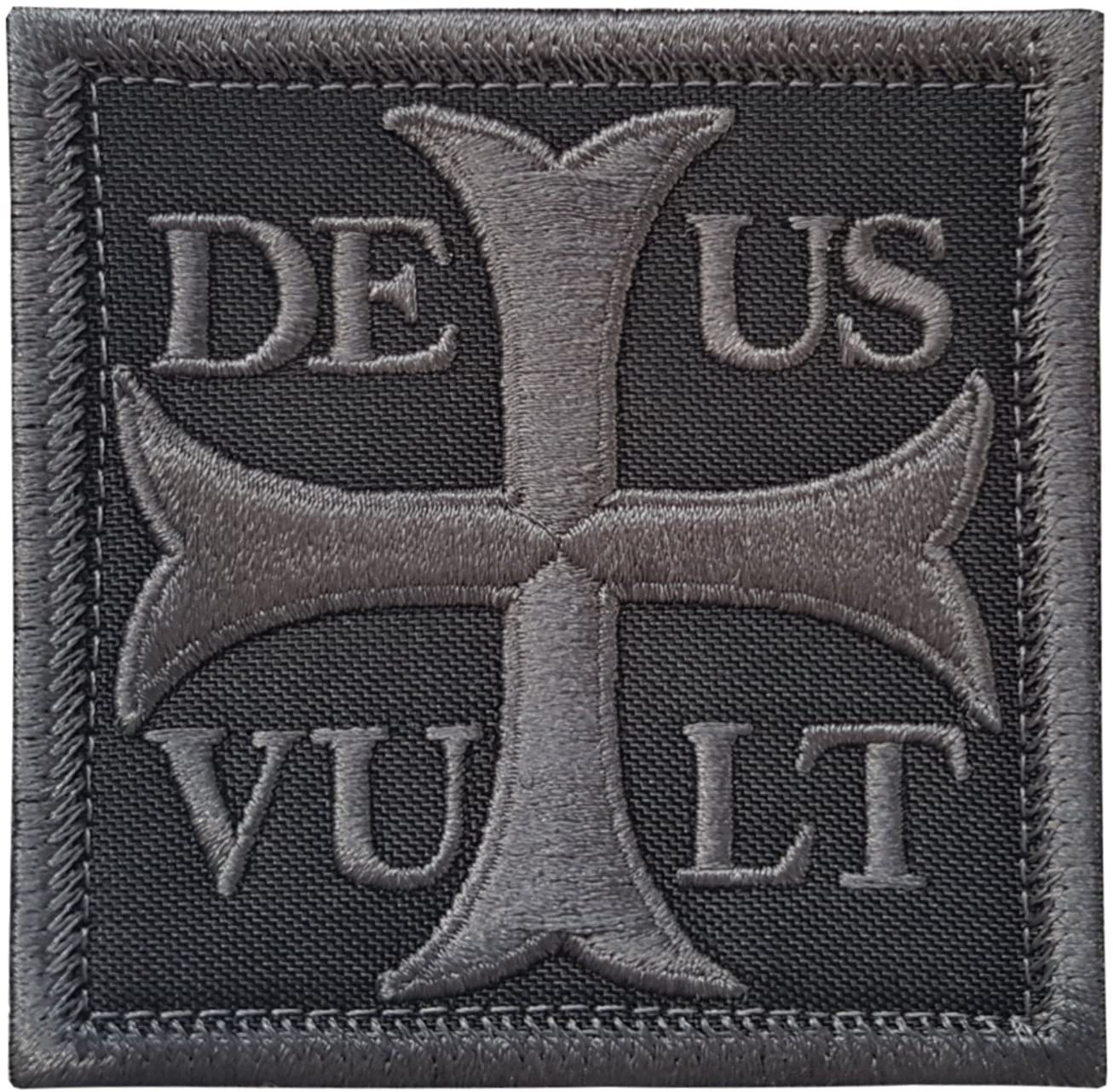 LEGEEON Subdued Deus Vult God Wills It Crusader Knight Holy Cross Templar Crusaders Morale Hook&Loop Patch