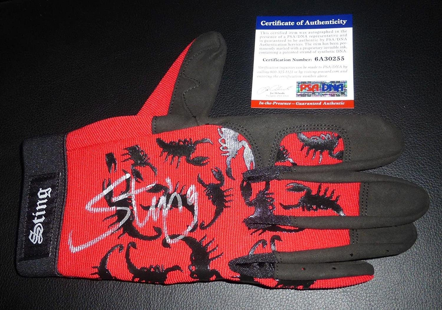 Sting Signed Official TNA In Ring Model Glove COA WWE WCW Wrestling Auto - PSA/DNA Certified - Autographed Wrestling Miscellaneous Items
