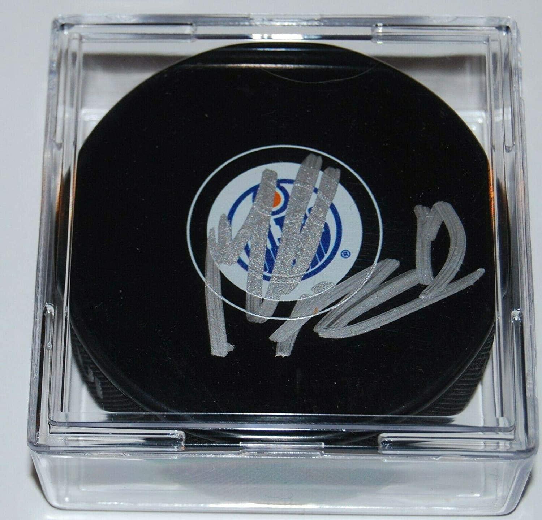Mikko Koskinen Autographed Hockey Puck - W COA - Autographed NHL Pucks