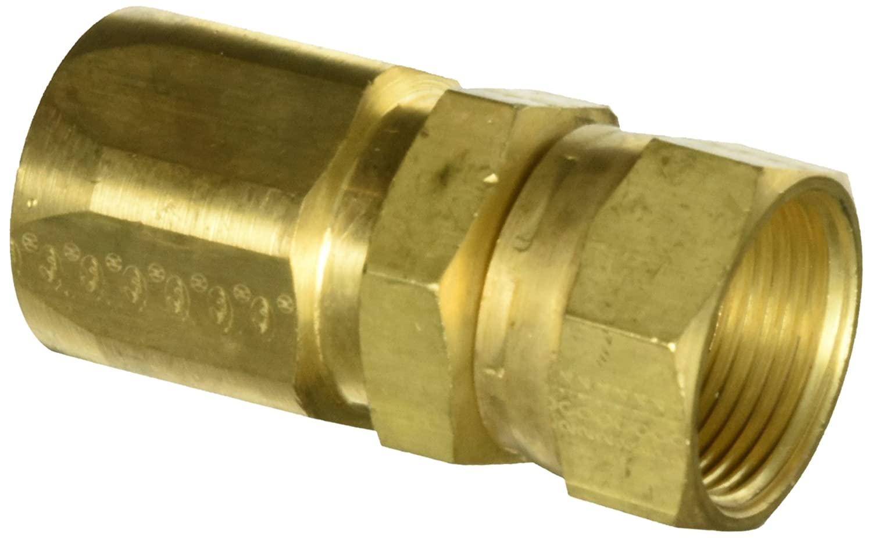 Gates 16C5-16RFJXB Field Attachable for C5C, C5D and C5M Hose, Female JIC 37 Flare Swivel, Brass, 7/8