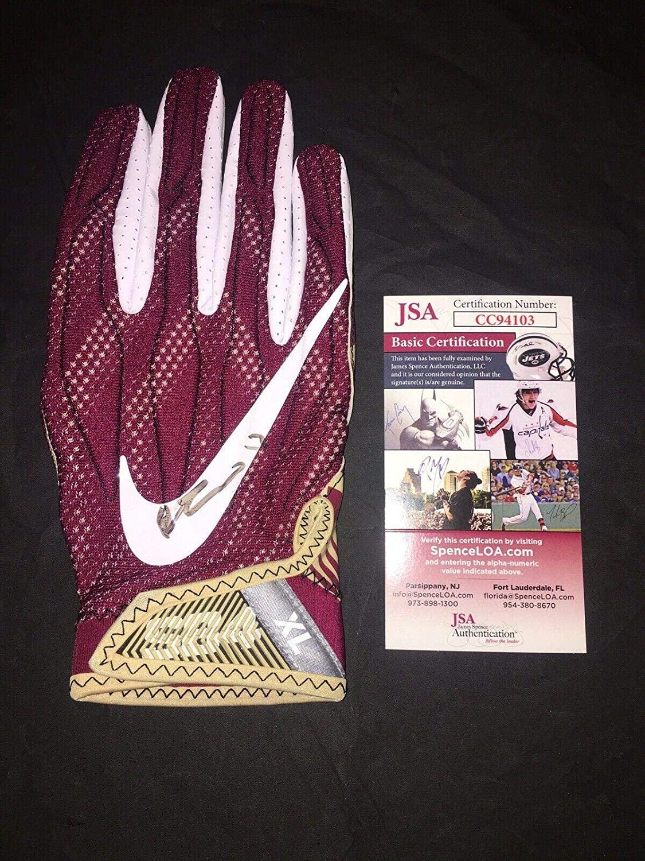 Derwin James Signed Team Issued Florida State Seminoles Glove Superstar - JSA Certified - Game Used College Gloves