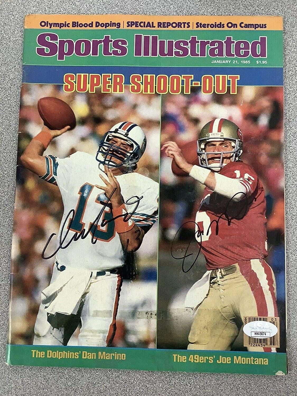 Joe Montana Signed Sports Illustrated Football Superbowl Auto 2/3/97 Marino - JSA Certified - Autographed NFL Magazines