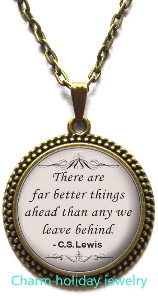 There are far Better Quote Necklace Pendant-Inspirational Necklace-Silver Motivational Jewelry Gift for Women and s-#280