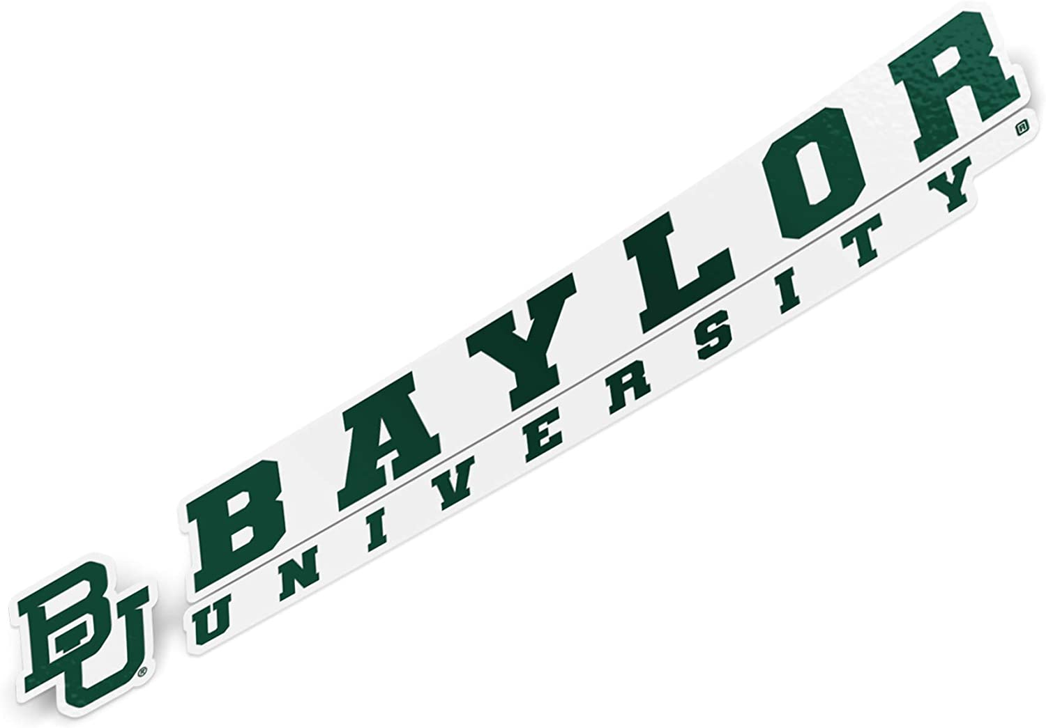 Baylor University Bears NCAA Name Logo Vinyl Decal Laptop Water Bottle Car Scrapbook (8 Inch Sticker)