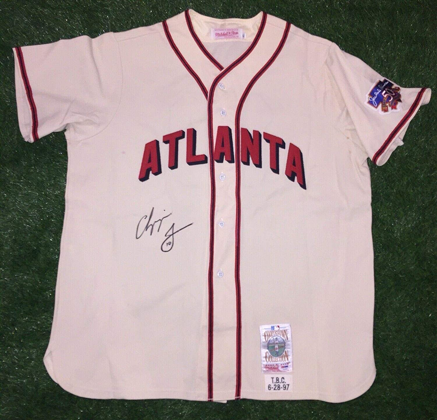 Autographed Chipper Jones Jersey - 1997 Game Use TBTC Auth - PSA/DNA Certified - Autographed MLB Jerseys