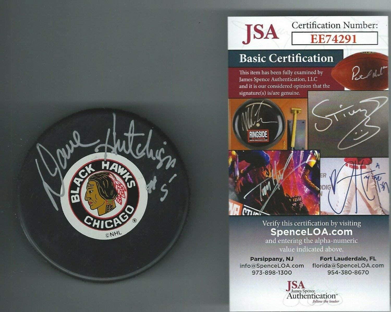 Authentic Autographed Dave Hutchison Chicago Blackhawks Puck JSA Authenticated COA