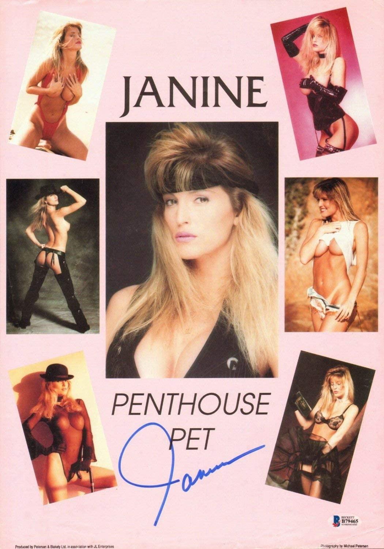 Janine Lindemulder Autographed Signed Original 1990 Penthouse 11X17 Poster Beckett Beckett COA
