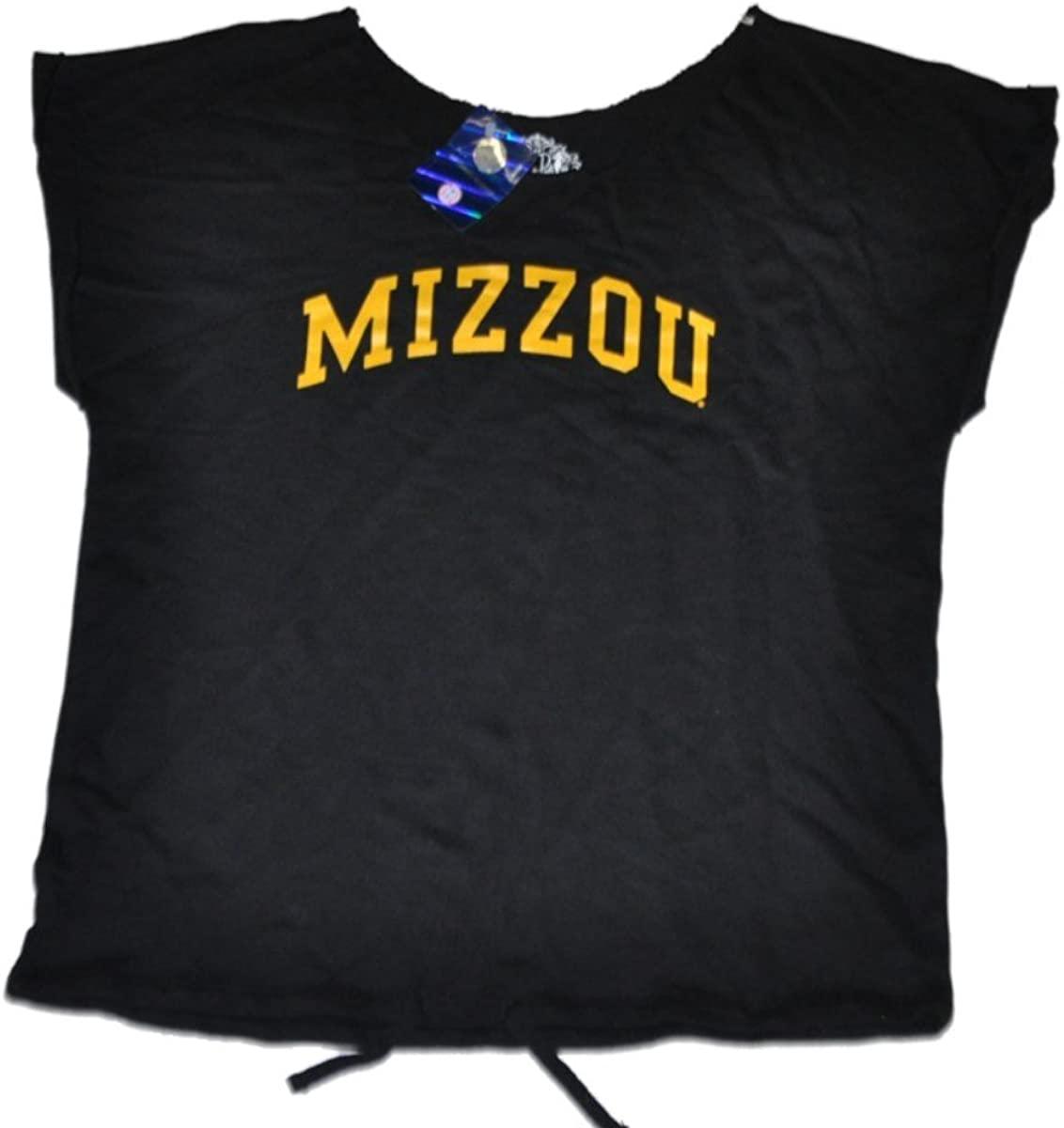Miss Smarty Pants Missouri Tigers Womens Cut Neck Black T-Shirt (M)