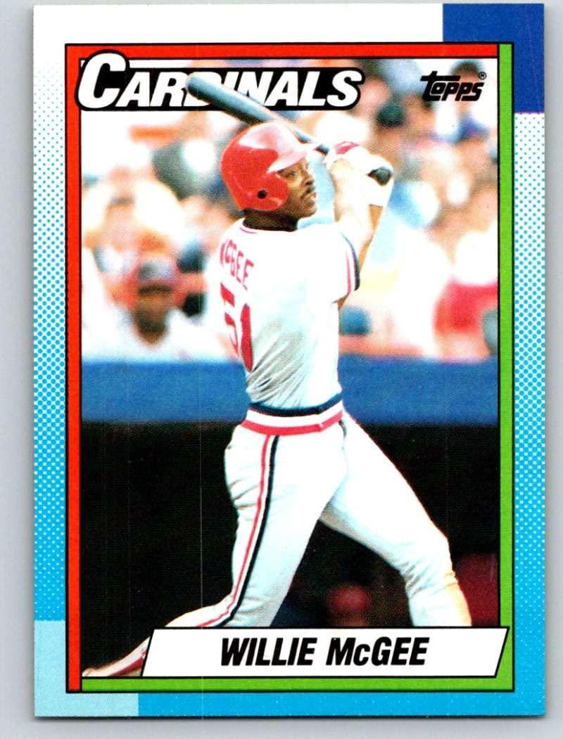 1990 Topps #285 Willie McGee Mint Baseball MLB Cardinals