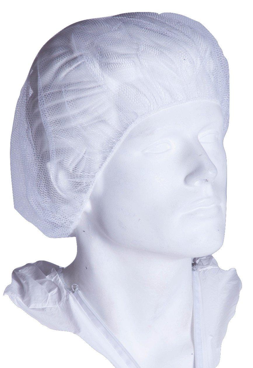 "Chu's Packaging Supplies PC2021M-N Hair Net, White, 21"" (Pack of 1000)"