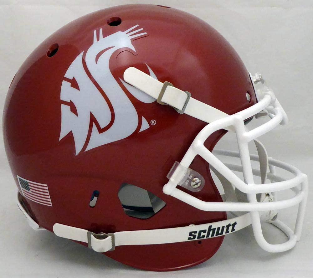 Unsigned Washington State Cougars Crimson Schutt Full Size Authentic Helmet Stock #138004 - College Replica Helmets