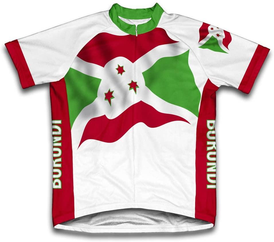 ScudoPro Burundi Flag Short Sleeve Cycling Jersey for Women