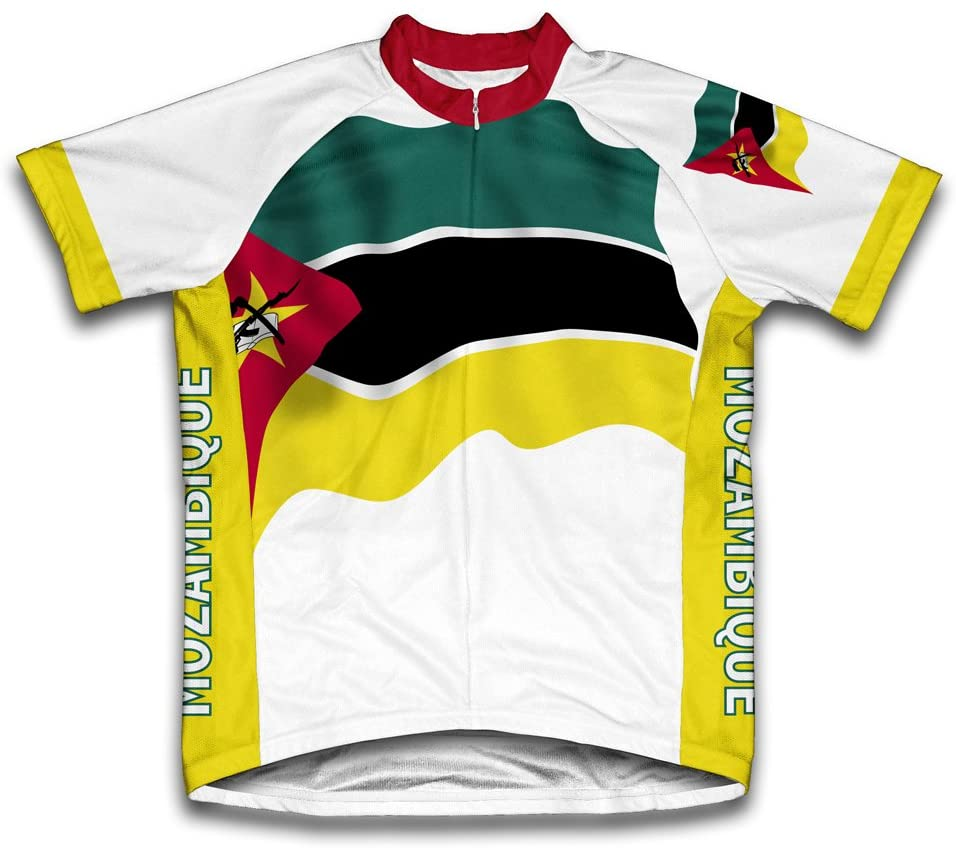 ScudoPro Mozambique Flag Short Sleeve Cycling Jersey for Men