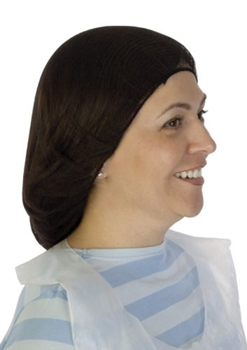 Liberty A1924 Soft Nylon Hairnet with 1/8 Honeycomb Pattern Holes, 24 Diameter, Brown (Case of 1000)