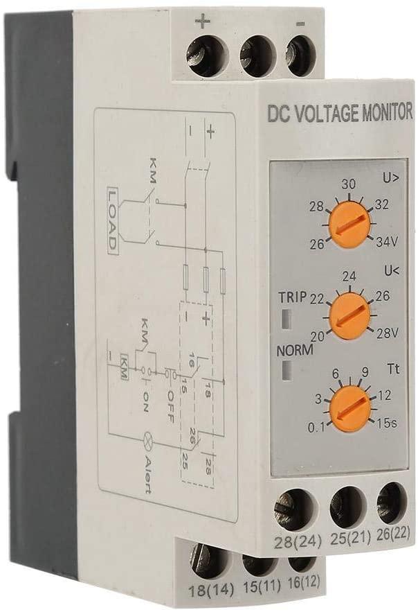 DC 12V/24V/36V/48V Over-Voltage and Under-Voltage Protection Relay Direct Current Circuit(DC24V)