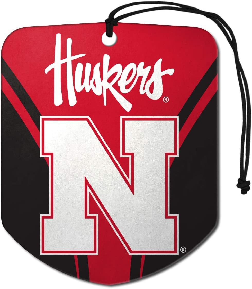 FANMATS NCAA Nebraska Cornhuskers Air Fresheners2 Pack Shield Design Air Fresheners, Team Colors, One Size