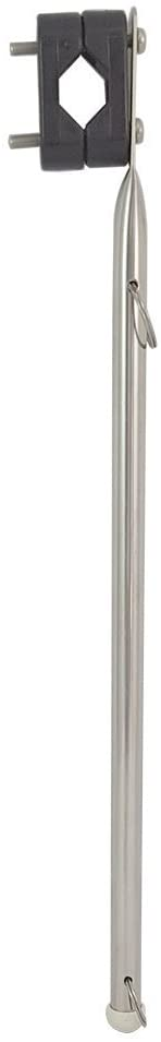 White Water 02917S Stainless Steel Rail Mount Boat Pulpit Staff