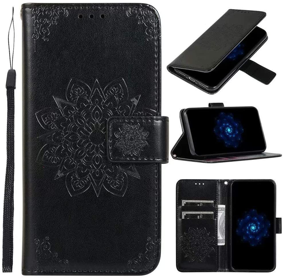Luckyandery Honor 9X Leather Pouch,Honor 9X flip case, Leather Wallet Case,Flip Case Cover with Stand Function & Credit Card Slots for Huawei Honor 9X