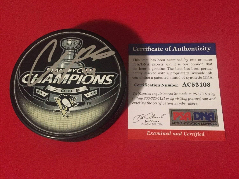 Authentic Autographed Chris Kuntiz 2009 Stanley Cup Champions Hockey Puck Auto PSA/DNA COA