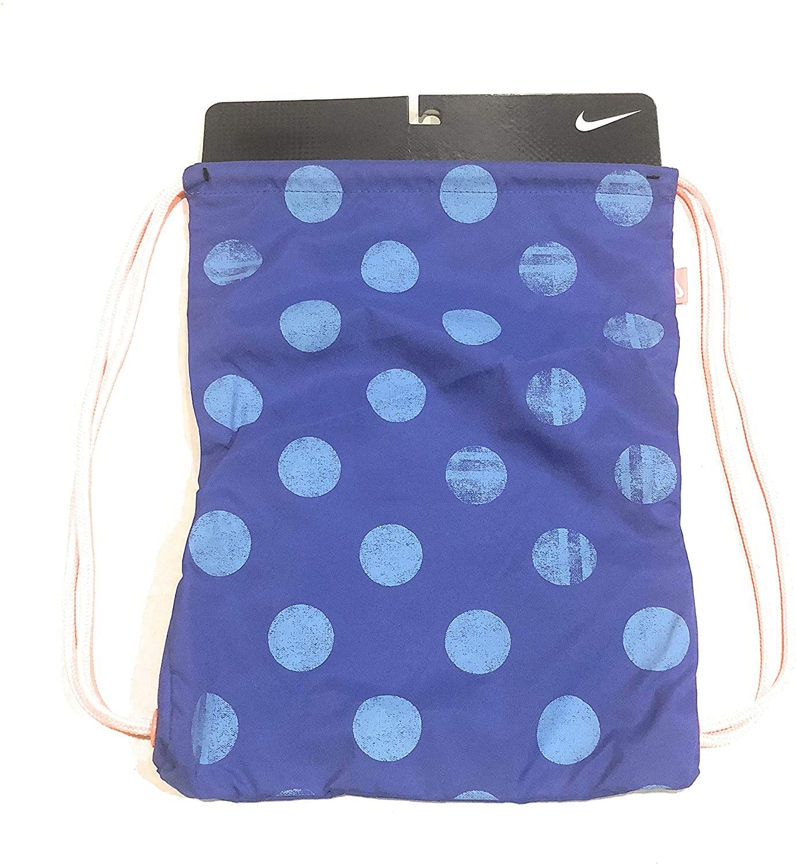 Nike Backpack Bag Gym Sack Drawstring Blue/neon Irange 4313-568