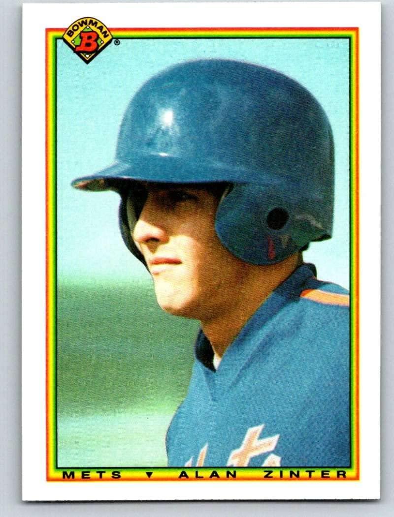 1990 Bowman #135 Alan Zinter Mint Baseball MLB RC Rookie Mets