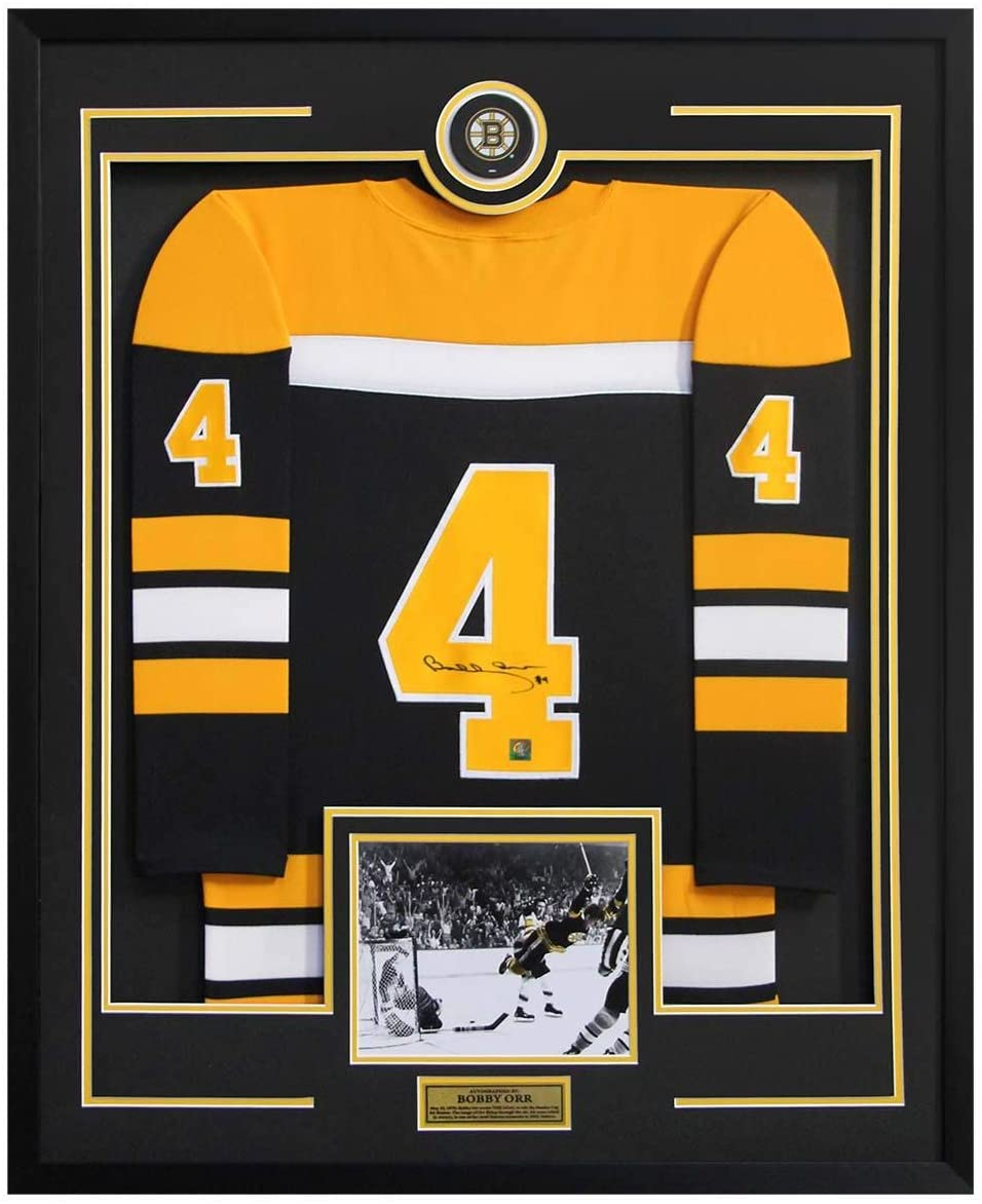 Signed Bobby Orr Jersey - 1970 Cup Goal 36x44 Framed - Autographed NHL Jerseys