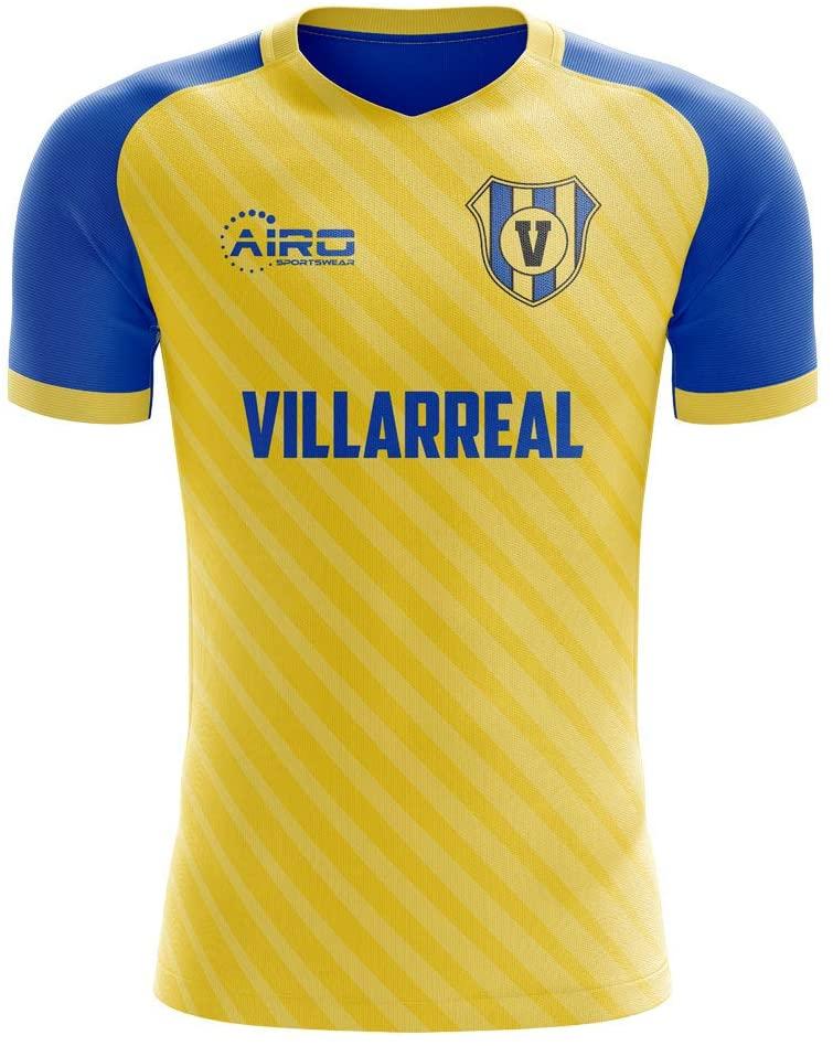 Airosportswear 2019-2020 Villarreal Home Concept Football Soccer T-Shirt Jersey - Kids