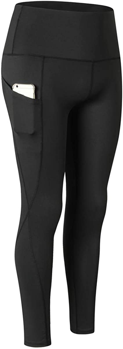 Wxnow Women's Ultra High Waist Yoga Pants Running Leggings Training Tights Quick Drying Sports Pants