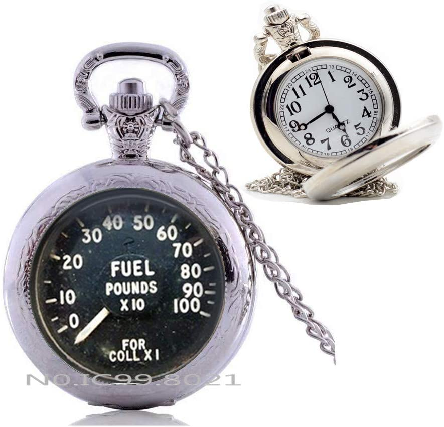 maoqunza Speedometer Pocket Watch Necklace, Speedo Pocket Watch Necklace, Car Speedometer Pocket Watch Necklace, Gift Idea for Her, for Him -RG394