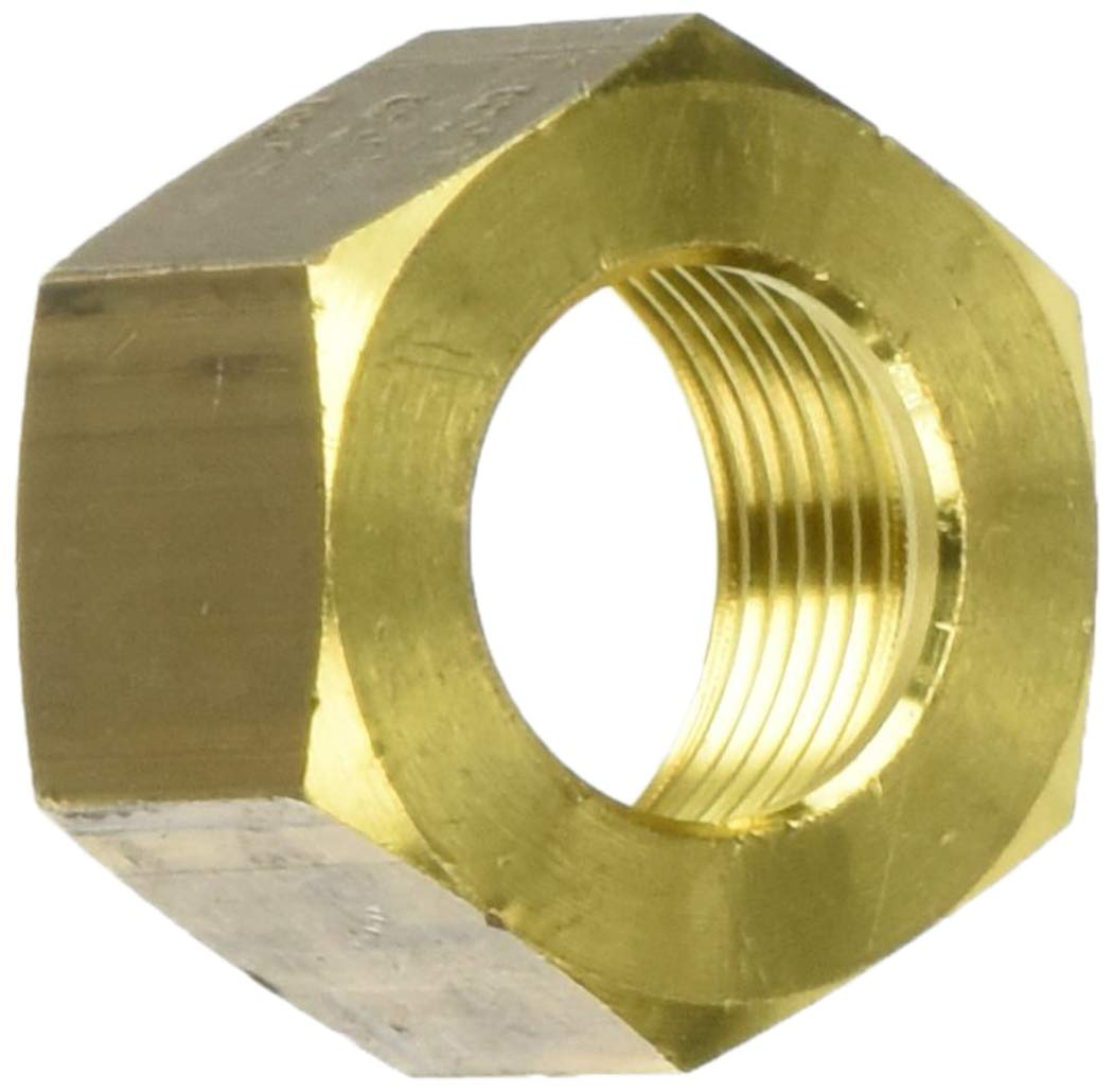 Parker Legris 0110 16 00-pk5 Legris 0110 16 00 Brass Compression Tube Fitting, Nut, for 16 mm Tube OD x M22X1.5 Thread, 27 mm Hex Size, 17 mm Length Brass (Pack of 5)