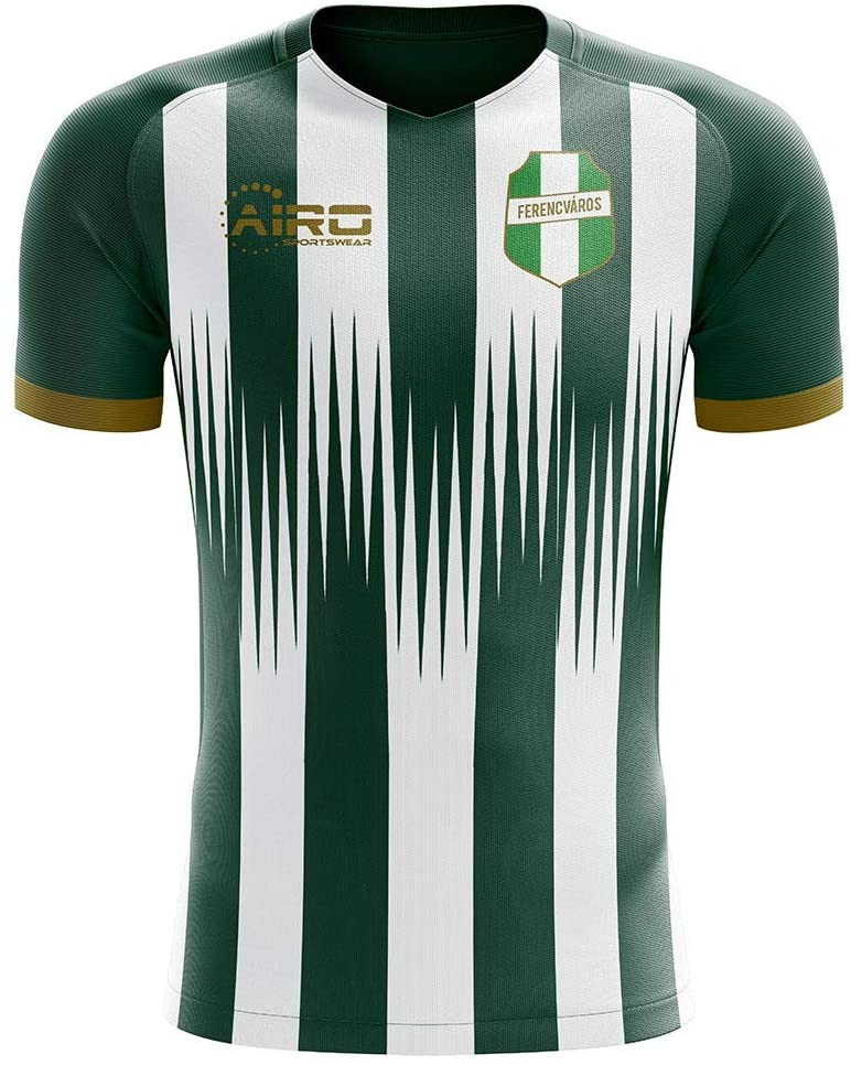 Airosportswear 2019-2020 Ferencvaros Home Concept Football Soccer T-Shirt Jersey - Kids