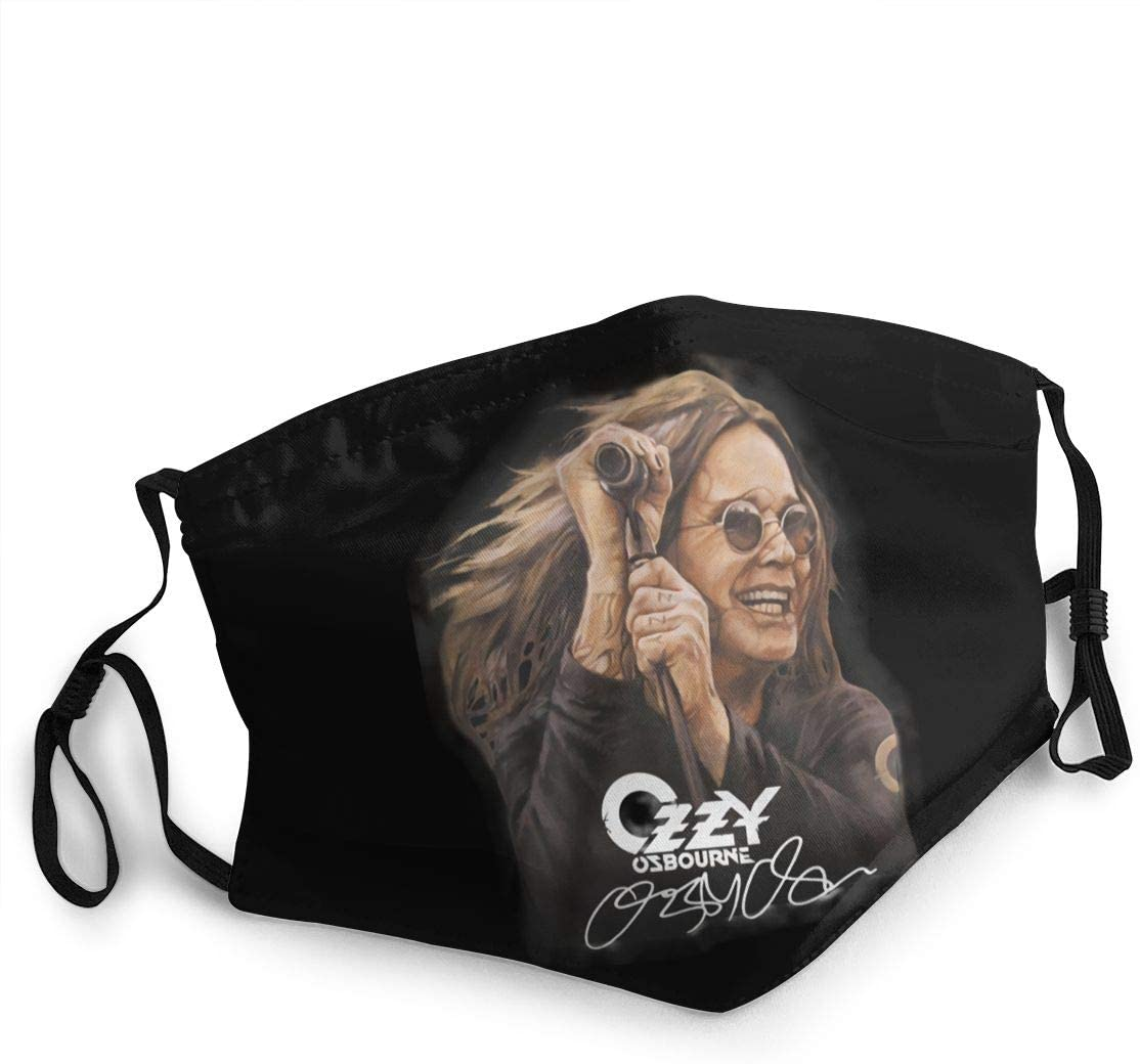 Ozzy Osbourne No More 2020 Tour Face Cover Fashion Anti- Face Mouth Cover Windproof Adjustable Washable Cover for Outdoor Sports