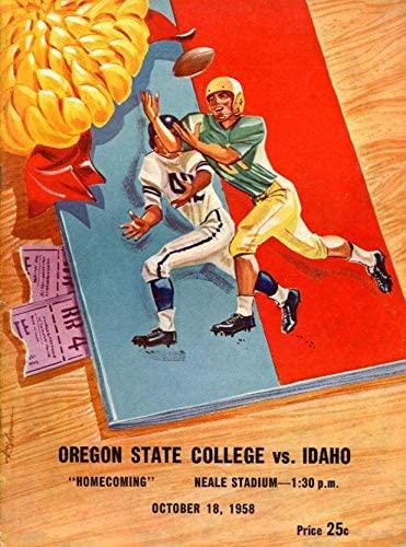 1958 Oregon State Beavers v Idaho Vandals Football Program - College Programs