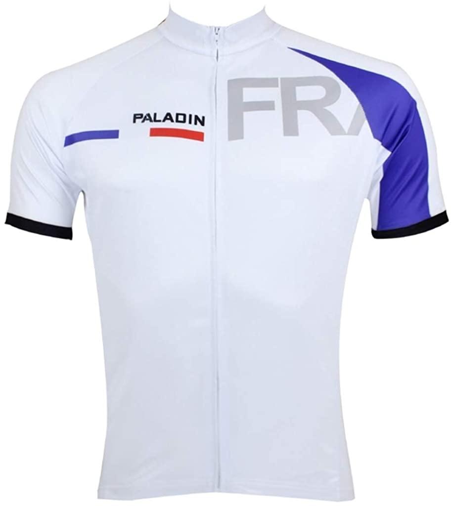 Paladinsport Men's France Polyester Quick Dry Short Sleeve Cycling Jerseys Size XXL