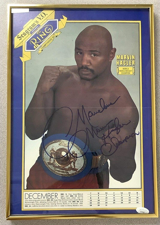 Marvin Hagler Signed Photo 10x15 Autograph Ring Magazine Marvelous Champ FOY - Autographed Boxing Magazines