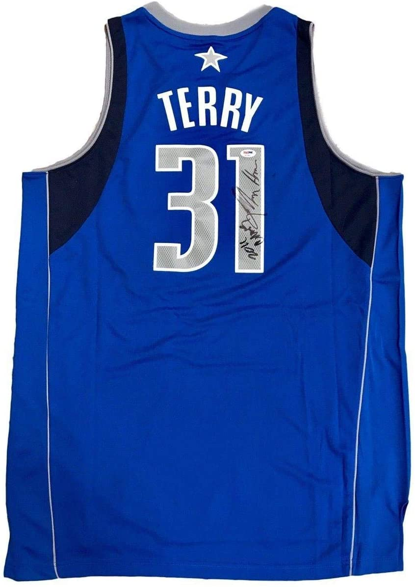 Jason Terry Autographed Jersey - 2011 Champs - PSA/DNA Certified - Autographed NBA Jerseys