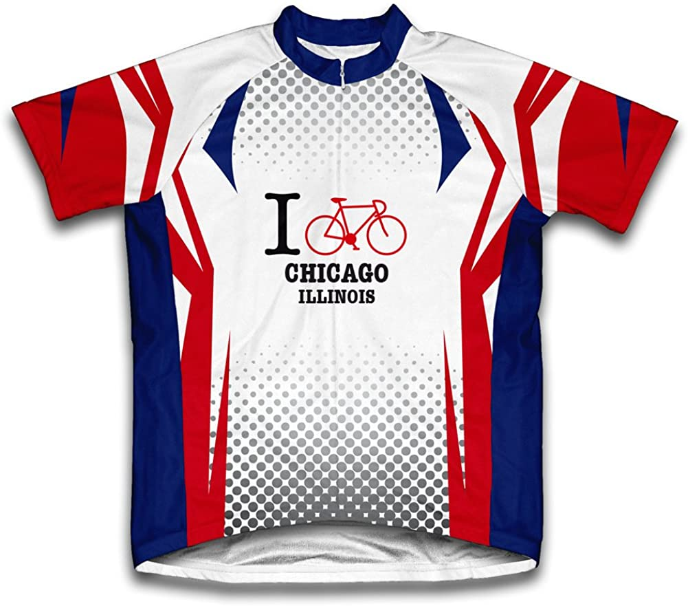 ScudoPro Chicago Illinois IL Cycling Jersey for Men