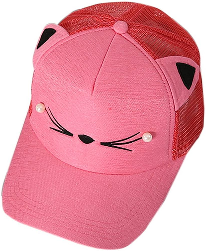 Gentle Meow Cat Caps Fashion Caps Ladies Baseball Caps Sun Cap Women Golf Hats Red