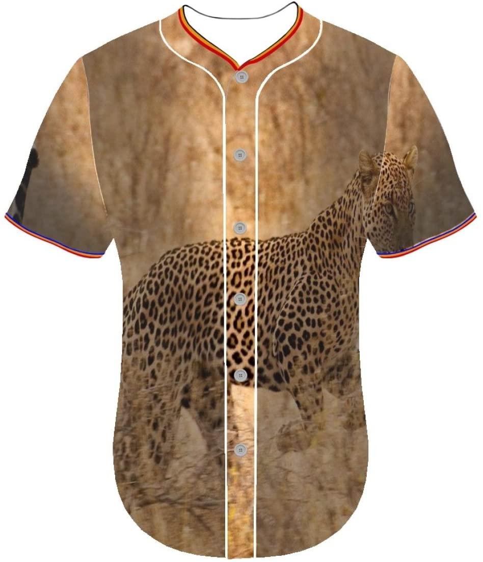 Entaiquji Baseball Team Jersey long sleeve 3d print shirt jerseys leopard md Round Collar 3D Printing Customized Men's Shirt