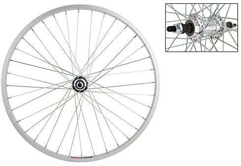 Wheel Master Rear Bicycle Wheel 24 x 1.5-1.75 36H, Alloy, Bolt On, Silver