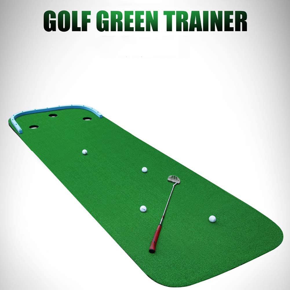 Portable Putting Green Mat 3 Holes,Professional Golf Putting Mat Game,Mini Golf Training Mat Practice Equipment for Indoor
