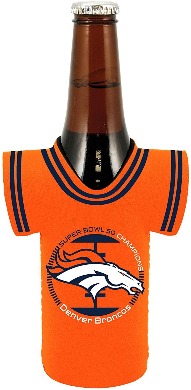 NFL Denver Broncos Super Bowl 50 Champion Bottle Jersey, Fits 12 oz Bottles, Orange