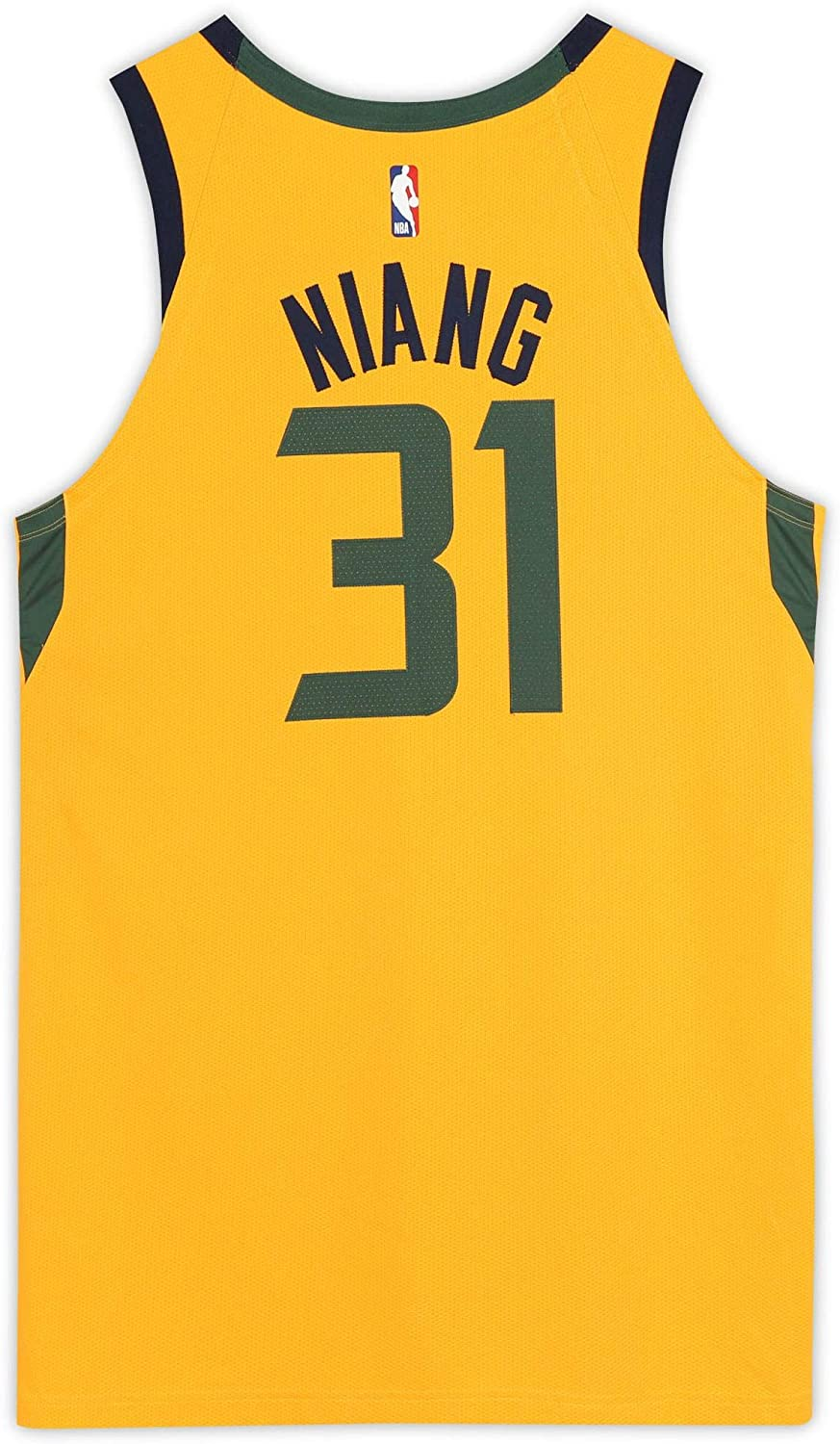 Georges Niang Utah Jazz Game-Used #31 Yellow Jersey vs. San Antonio Spurs on February 21, 2020 - Size 52+4 - Fanatics Authentic Certified