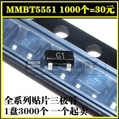 Chavis 200PCS Sale New MMBT5551LT1G MMBT5551 SOT-23 2N5551 SMD NPN high-voltage transistor