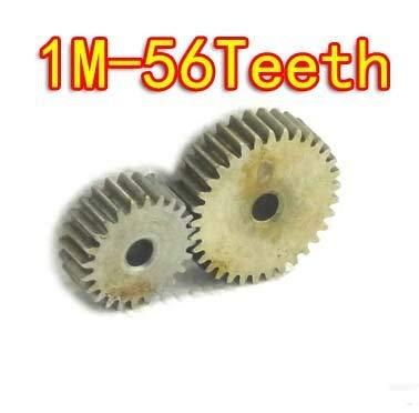 Fevas 2Pieces/Lot Diameter:58mm 1M-56Teeth Flat Steel Spur Gear -Hole D:10mm