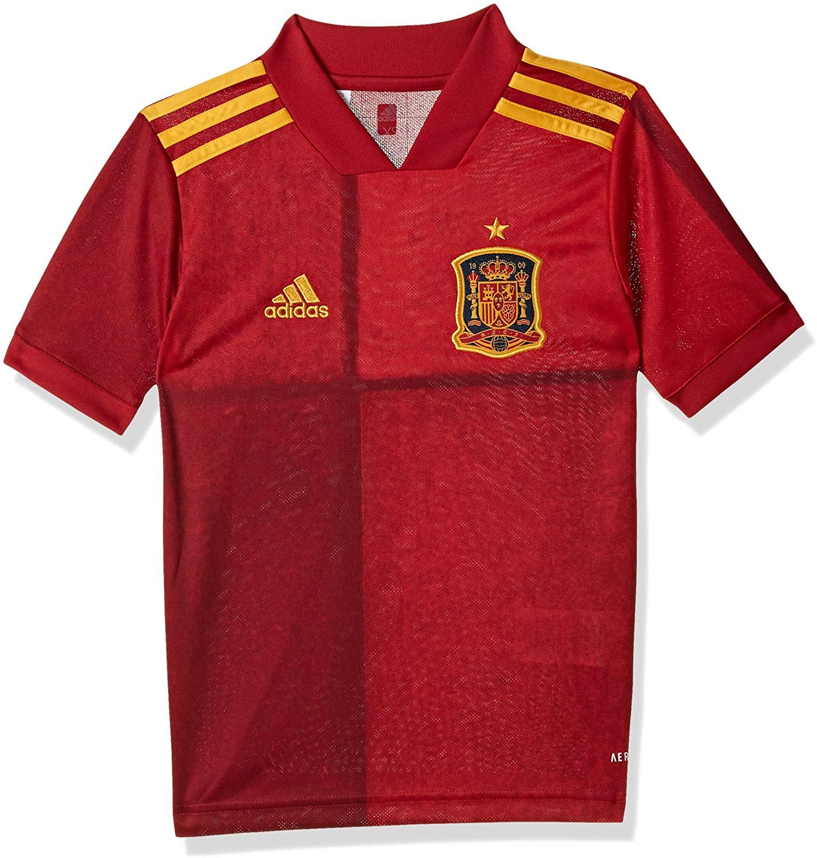 adidas 2020-2021 Spain Home Football Soccer T-Shirt Jersey (Kids)