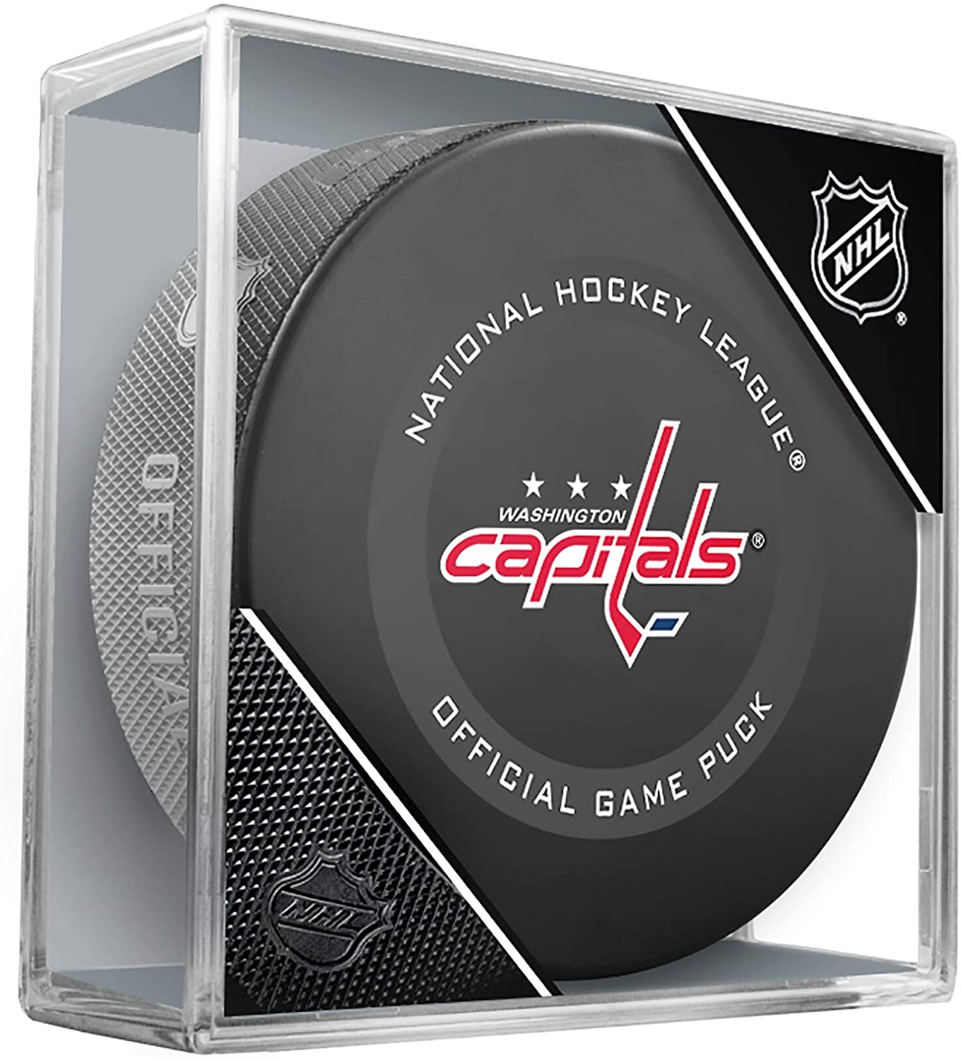 Washington Capitals Official Game Hockey Puck with Holder