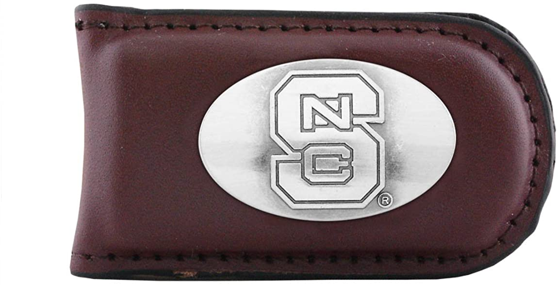 NCAA North Carolina State Wolfpack Zep-Pro Leather Magnet Concho Money Clip