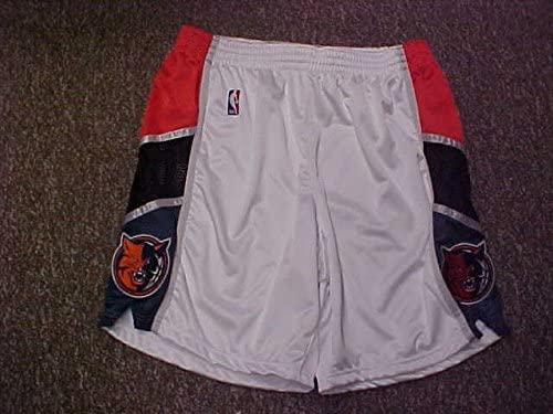 Adam Morrison Charlotte Bobcats White Game Worn Shorts