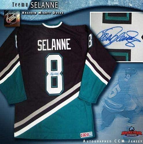 Teemu Selanne Signed Jersey - Mighty Retro CCM - Autographed NHL Jerseys